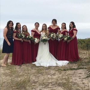 Burgundy Bridesmaid/Prom Dress